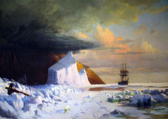Bradford, William: An Arctic Summer - Boring through the Pack in Melville Bay. Fine Art Print (5351)